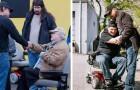 Um empresário dá de presente centenas de cadeiras de rodas elétricas para deficientes físicos e idosos: alguns deles não saíam de casa há anos