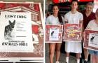 Questa pizzeria ha avuto un'idea geniale per aiutare le persone a ritrovare i loro animali smarriti