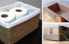 Crea in pochi minuti un portaoggetti per il bagno partendo da una semplice scatola di cartone