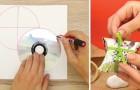 Come creare una deliziosa scatola da regalo usando un cartoncino e un CD