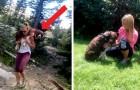 Diese Wanderin rettet einen verwundeten Hund und transportiert ihn 10 km lang auf ihren Schultern
