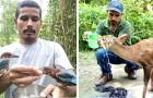Quest'uomo ha salvato oltre 5000 animali selvatici: è un vero esempio di passione e dedizione