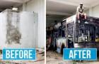Questo artista di strada riporta in vita spazi urbani in decadenza con vernice spray e creatività