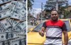 Una donna dimentica 12.000 dollari a bordo ma questo tassista decide di restituirglieli tutti