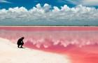 Diese rosa Lagune befindet sich in Mexiko, aber sie scheint aus einem Märchen entstanden zu sein