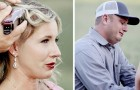 The poignant images of a man cutting his wife's hair before her chemotherapy begins