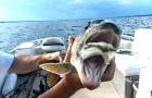 Sembrava una pesca come tutte le altre, ma questa donna cattura un pesce..con due bocche!