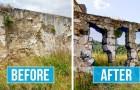 Questo artista di strada trasforma le mura urbane in pareti trasparenti usando la vernice spray