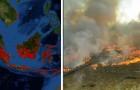 Après l'Arctique, l'Amazonie et l'Afrique, l'Indonésie brûle aussi : les bûchers servent à produire l'huile de palme
