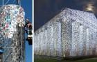 Diese Frau baute eine Nachbildung des Parthenons mit 100.000 Büchern, die von Diktaturen zensiert wurden