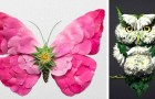 Diesem Mann gelingt es, einfache Blumen in überraschende Skulpturen mit Tiermotiven zu verwandeln