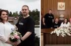 Si sposano in jeans e maglietta, e dimostrano che i matrimoni non devono essere per forza costosi
