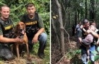 Den här modiga hunden hittade en autistisk 3-årig pojke som försvunnit i skogen