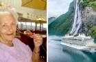 74 år gammal säljer hon sitt hus och bestämmer sig för att bo på ett kryssningsfartyg för resten av sitt liv