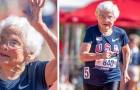 Ela tem 103 anos e ganhou o ouro nos 100 metros: é a mulher mais velha a vencer uma corrida no seu país