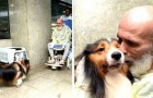 El personal médico ha permitido a este perro de hacerle una visita a su patrón internado, para ayudarlo en su recuperación
