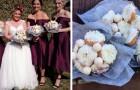 Deze bruid arriveerde met een boeket donuts op haar bruiloft