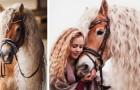 Este cavalo tem uma crina tão encantadora que dá inveja até as mais lindas protagonistas dos contos de fadas