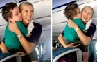 This airline hostess calmed an agitated child on an airplane by giving him a tour of the cockpit