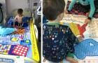 Questo papà trasforma le lenzuola dei bimbi ricoverati in giochi da tavolo