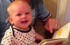 The wonderful reaction of a child who discovers books for the first time