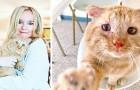 Trotz des Verbots des Vermieters gelang es dieser Frau, ein von der Straße gerettetes Kätzchen aufzunehmen