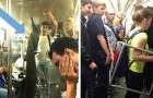 Eigenaardigheden op het spoor: 18 foto's van extravagante situaties in de metro