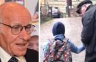 Este hombre de 84 años ha recorrido cada día 60 km para acompañar a un niño ciego a la escuela