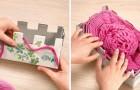 Sciarpa di lana senza ferri: come crearne una usando due scatole di cartone