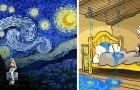 Ein Zeichner illustriert Van Goghs Leben, als wäre es ein Comicbuch, ironisch und dramatisch zugleich