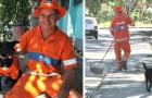 Ce chien en uniforme de balayeur accompagne au travail l'homme qui l'a sauvé de la rue