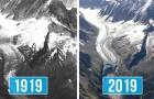 Il ghiacciaio del Monte Bianco a distanza di 100 anni: le foto mostrano i danni del riscaldamento globale