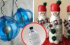 Decorazioni natalizie con le bottiglie di plastica: 18 idee per riciclare in modo artistico