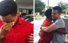 He walks 20 miles to go to work and his boss gives him his own car to thank him