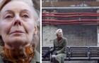 Every day this woman sits in a subway station just to hear the recorded voice of her husband who has passed away