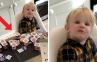 A dad leaves his 3-year-old daughter alone in the kitchen for 10 minutes and she eats 18 single-serve cartons of yogurt