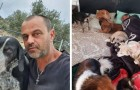 Deja el trabajo para ayudar a los perros callejeros de su ciudad: hoy tiene un refugio donde cuida de todos ellos