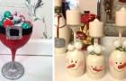 16 idee brillanti per riciclare bicchieri e calici e trasformarli in originali decorazioni di Natale