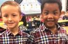 Deze twee kinderen besluiten zich op dezelfde manier te kleden om eruit te zien als een tweeling en leren de waarde van gelijkheid