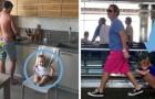16 Fotos zeigen die extravagantesten Lösungen, die Väter wählen, wenn sie mit ihren Kindern allein sind