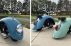Un homme a démonté une vieille Coccinelle Volkswagen et a créé ces originales mini-motos