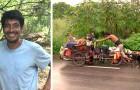 Cet homme a sauvé plus de 500 chiens voyageant à travers le Mexique pendant 6 ans avec un chariot