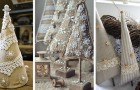 Alberi di Natale Shabby Chic: 10 idee eleganti per creare decorazioni con pizzi e merletti