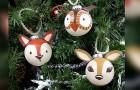 Animaletti da appendere all'albero di Natale: il tutorial passo dopo passo per creare decorazioni adorabili