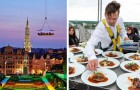 Ad Atene c'è un ristorante fluttuante dove poter degustare una splendida cena a 40 metri d'altezza