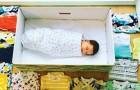 In Finland geeft de Staat een kartonnen doos aan elke pasgeborene: een traditie die het verdient te worden geïmiteerd