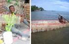 Cet homme construit des barques avec des bouteilles en plastique recyclées : il préserve l'environnement et aide les pêcheurs dans le besoin