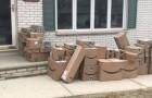 Une femme a conservé les cartons d'Amazon pendant 6 mois pour faire une blague à son mari