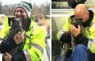 Un chauffeur de camion pleure de joie quand il retrouve le chat qui l'accompagnait toujours dans ses voyages