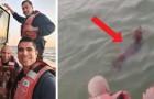 La Guardia Costiera salva un cane in difficoltà che stava nuotando in mare aperto